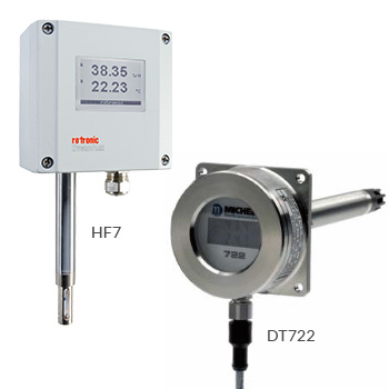 Heavy Duty Temperature and Humidity Transmitters - Rotronic HF7 and DT722